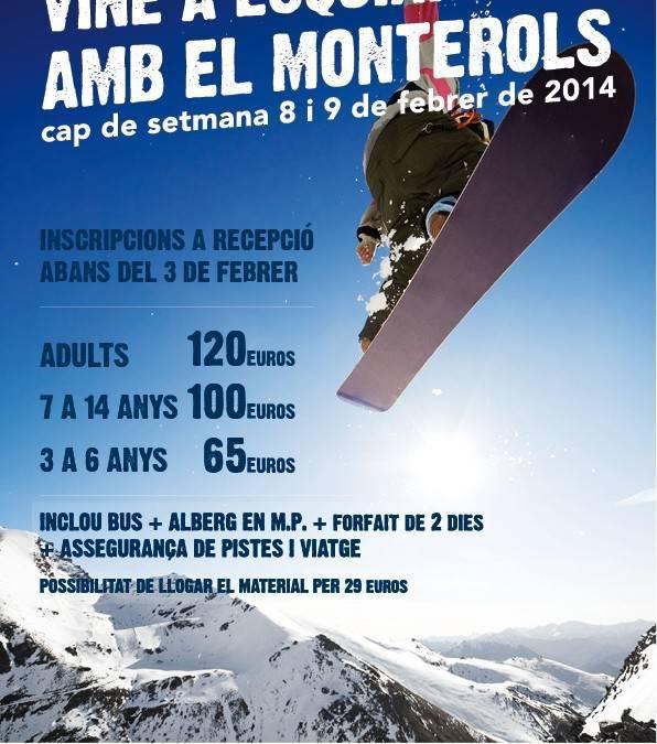 Vine a esquiar amb el Monterols a Port-Ainé