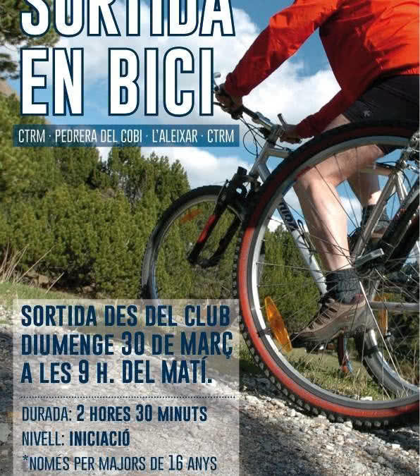 Sortida en bicicleta per als socis des del Club aquest diumenge 30 de març