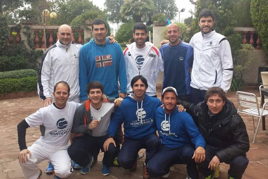 L'equip absolut de pàdel del Monterols mantindrà la tercera categoria en el Campionat de Cataluya per equips