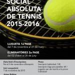 Lliga Social Tennis 2015-2016