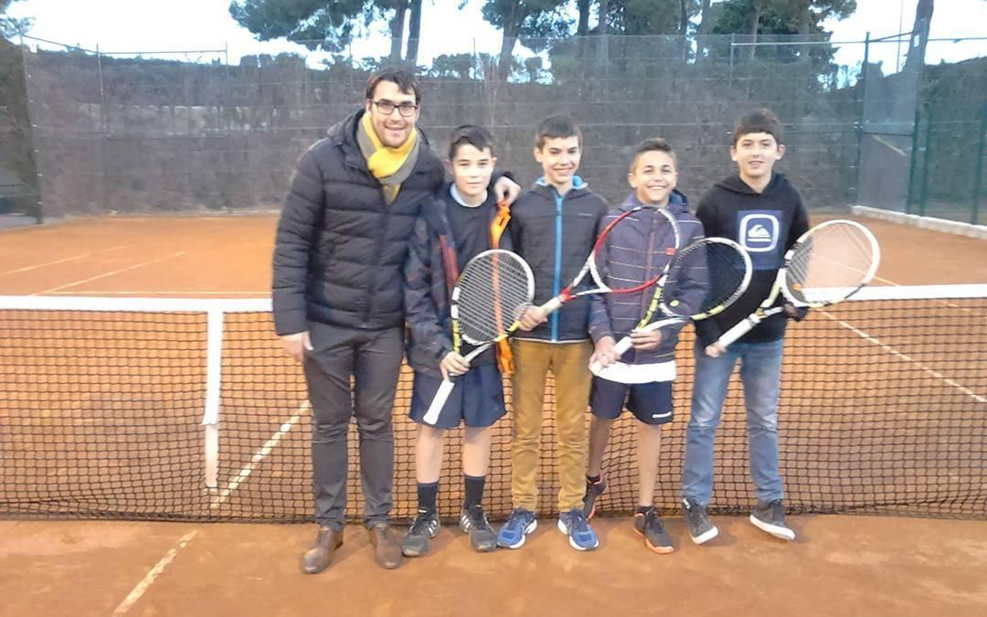 Lliga Catalana de Tennis: Victòria de l'infantil masculí contra el CT Tarragona B per 5 a 0