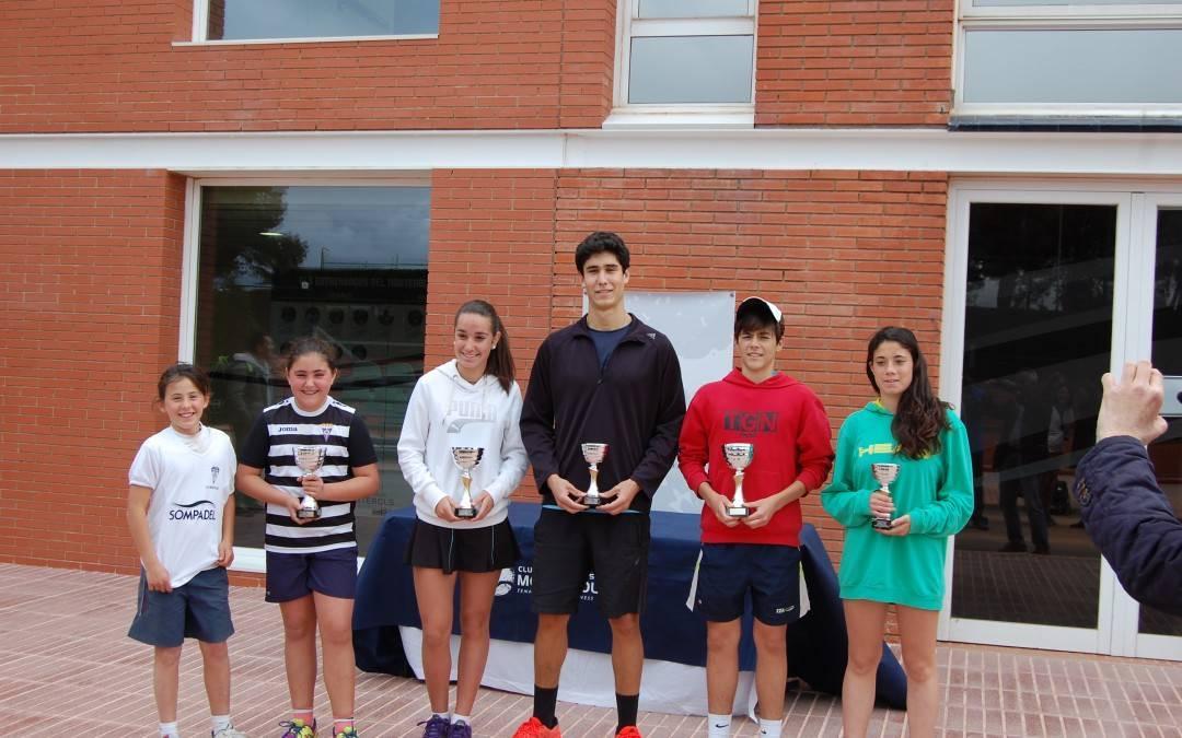 Finalitza el Circuit Juvenil Head del Monterols amb 11 jugadors del Club destacats entre els guanyadors i finalistes