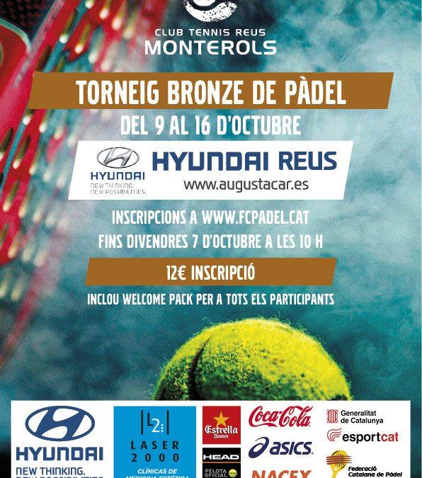 Hyundai Reus patrocina el Torneig Bronze de Pàdel del Tennis Monterols