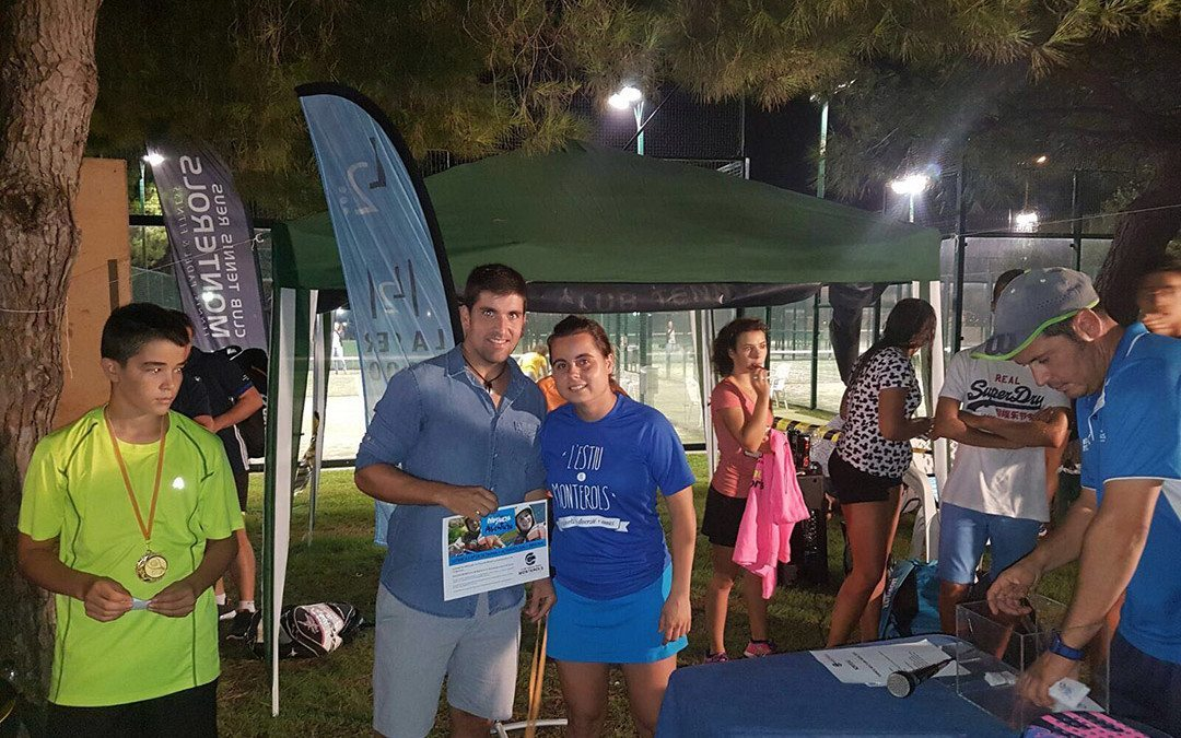 Victòria de l'equip verd en el torneig nocturn de pàdel per equips del Monterols