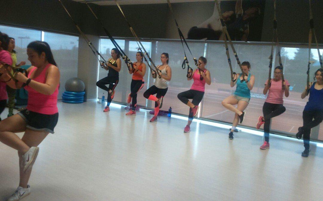 Els alumnes de fisioteràpia de la URV imparteixen una part pràctica del curs al Fitness Center del Monterols