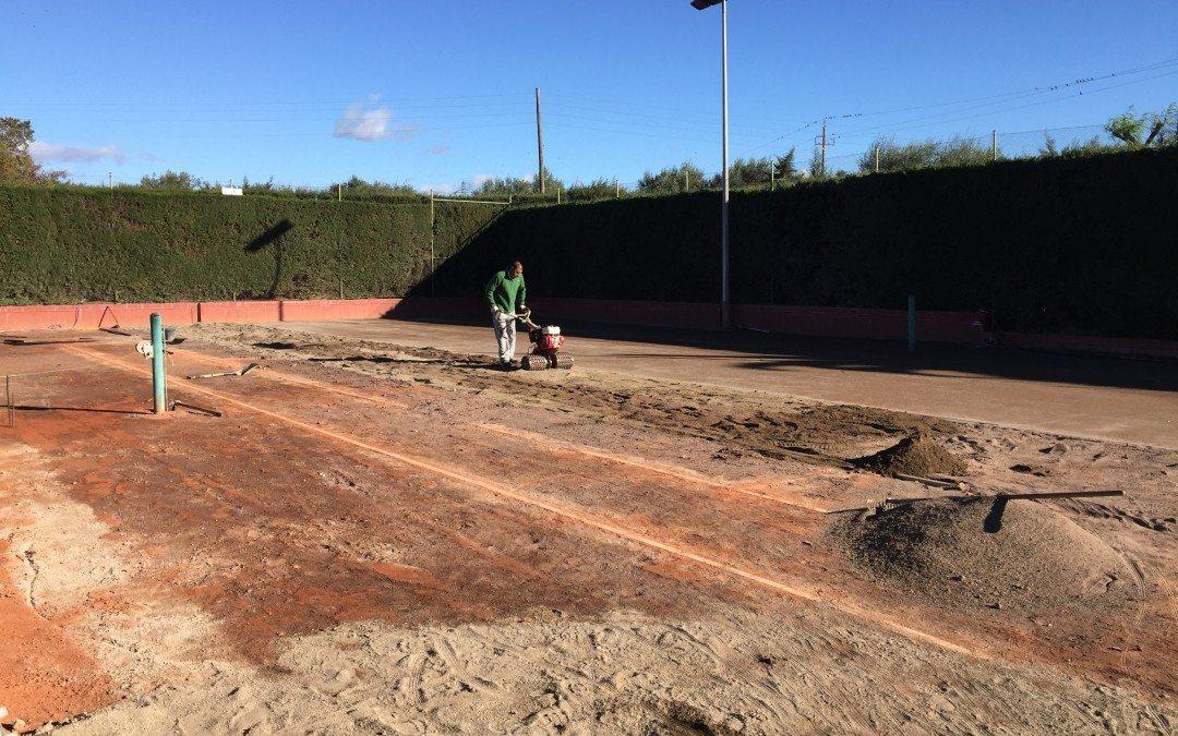 Les pistes 1 i 2 de tennis estaran de baixa temporalment