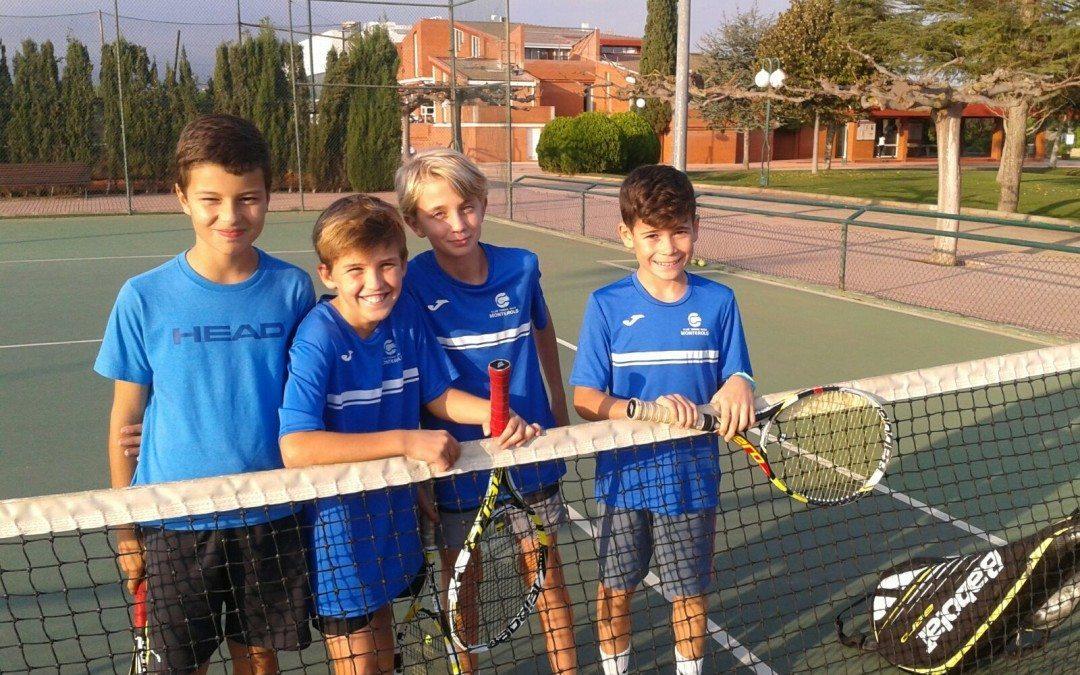 Victòria de l'aleví masculí B davant del Sant Salvador en la Lliga Catalana de tennis