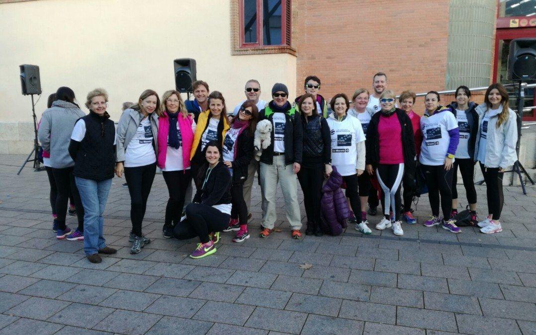 Els socis i sòcies del Monterols participen a la caminada solidària de la Marató de TV3