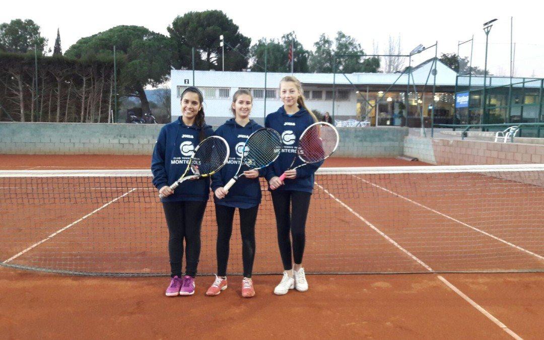 Victòria del júnior femení en la Lliga Catalana de tennis a domicili del Reus Deportiu per 0 a 4