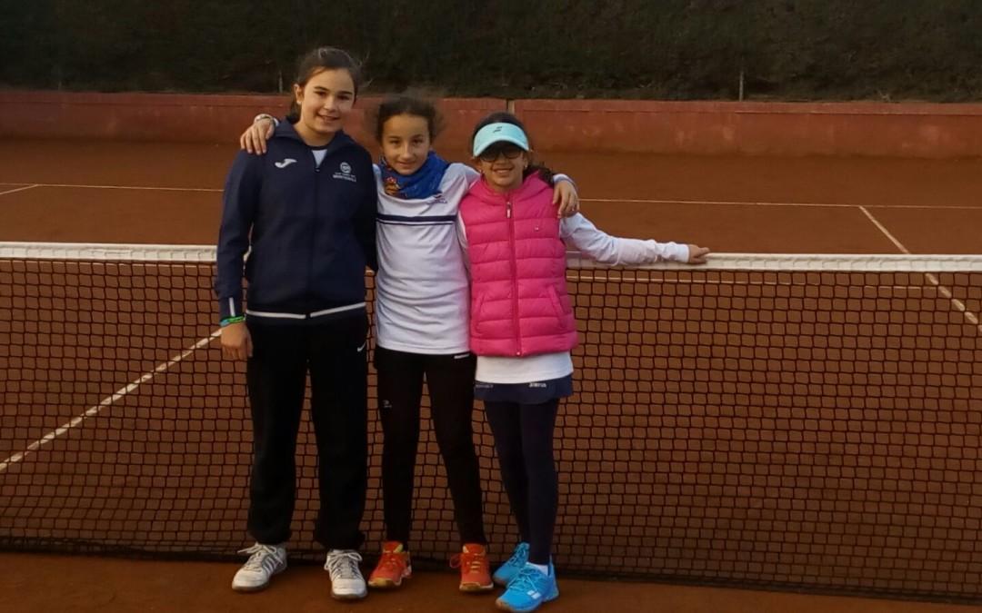 L'equip aleví femení del Monterols guanya al CT Tortosa en la Lliga Catalana de tennis
