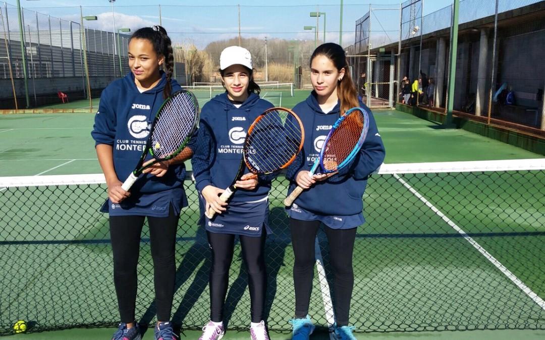 El Cadet Femení de tennis del Monterols manté la categoria Or.