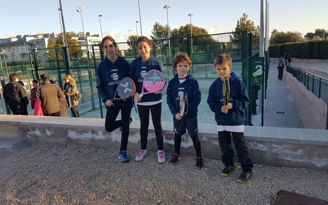 Bons resultats dels jugadors de pàdel del Monterols als Jocs Esportius Escolars de l'Hospitalet de l'Infant