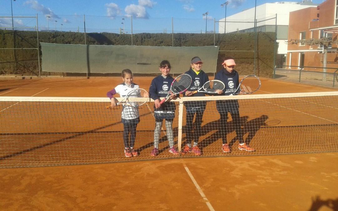 Victòria de l'aleví femení contra el Sant Salvador en la Lliga Catalana de tennis per 4 a 0