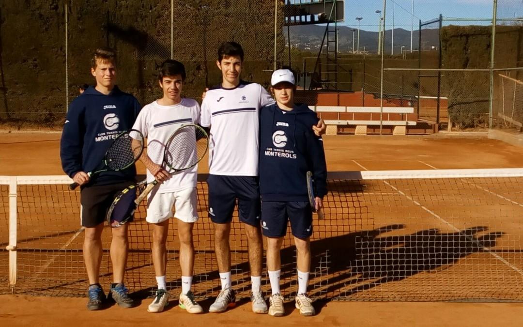 Victòra del Cadet Masculí A contra el Tennis Cunit en la Lliga Catalana de tennis