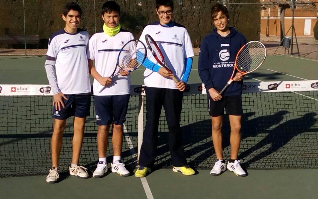 El Cadet Masculí B no pot amb el Tennis Tarragona B i acaba perdent per 3 a 2 en la Lliga Catalana de tennis