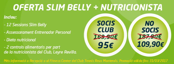 oferta Slim Belly + nutricionista inscrits casting