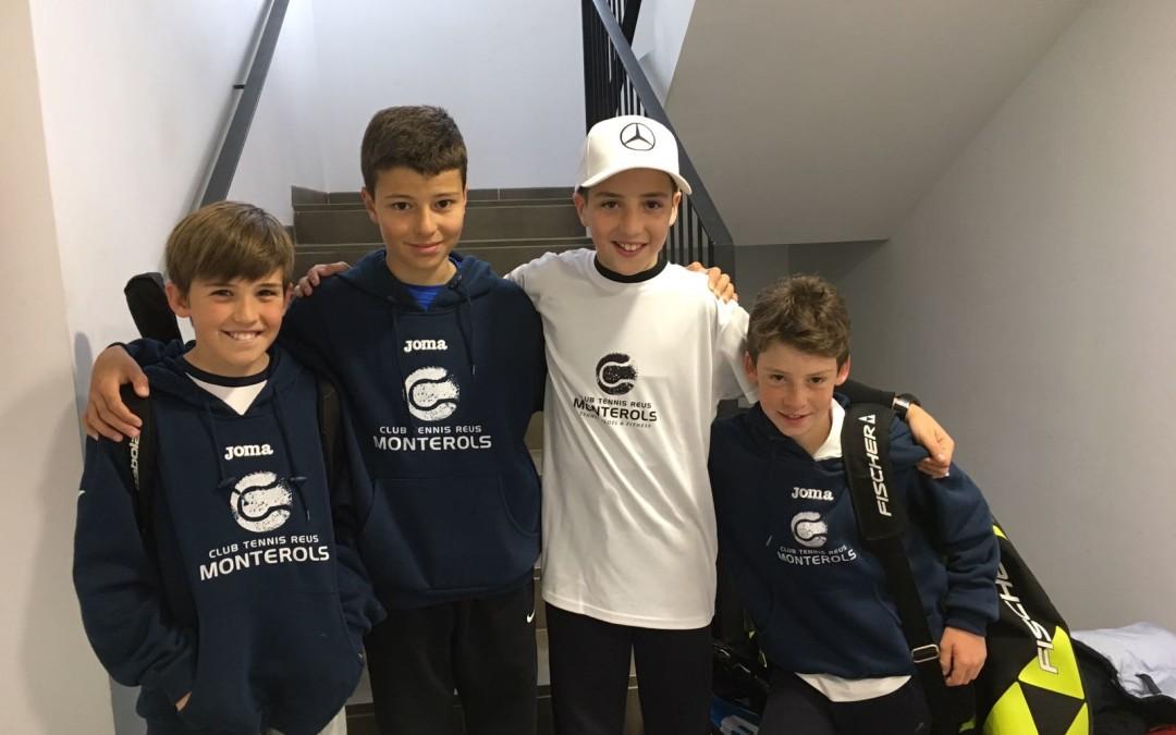 Victòria de l'equip aleví masculí B en la Lliga Catalana de tennis