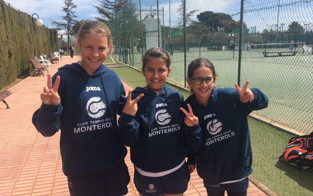 Derrota de l'aleví femení B contra el Club Tennis Serramar en la Lliga Catalana de tennis