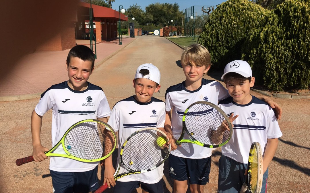 Victòria de l'aleví masculí B contra el Reus Deportiu en la Lliga Catalana de tennis