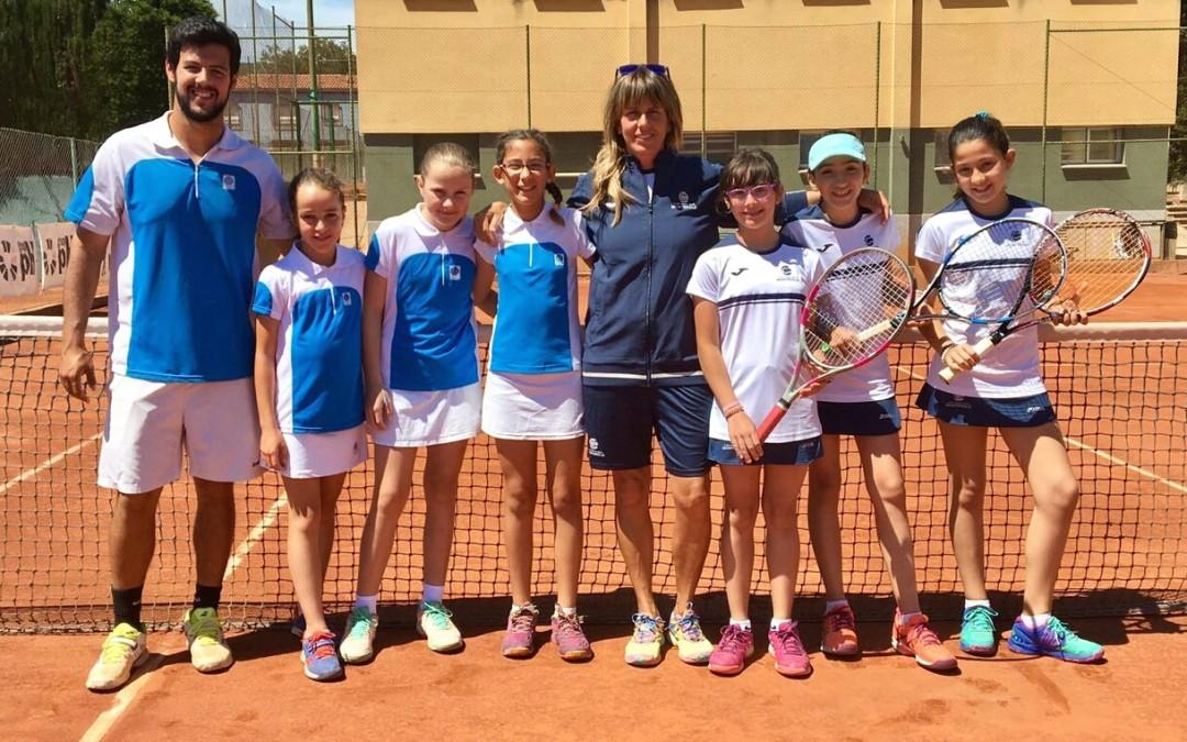 L'aleví femení B es classifica per disputar les semifinals de la Lliga Catalana de Tennis