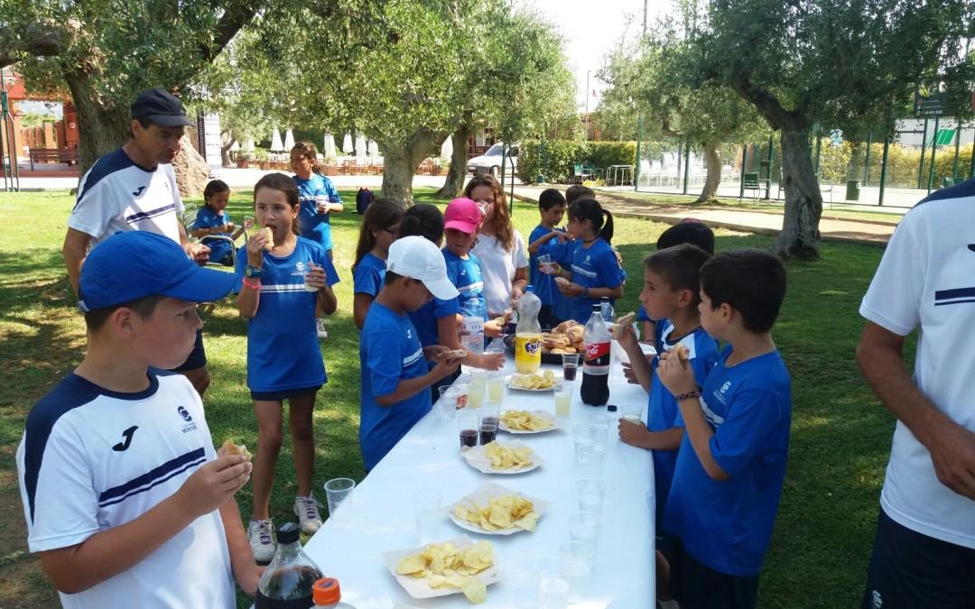 Festa de final de curs de l'escola de tennis