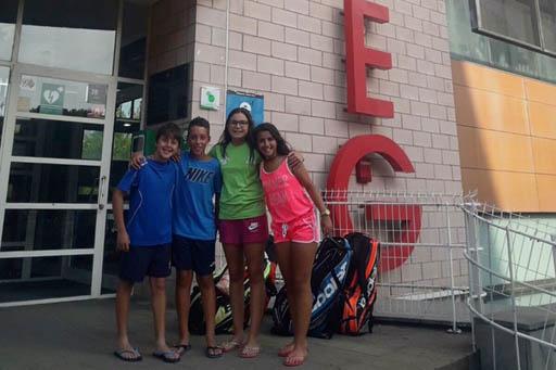 Es disputa la primera ronda del Campionat Sub-11 de tennis al GEIEG