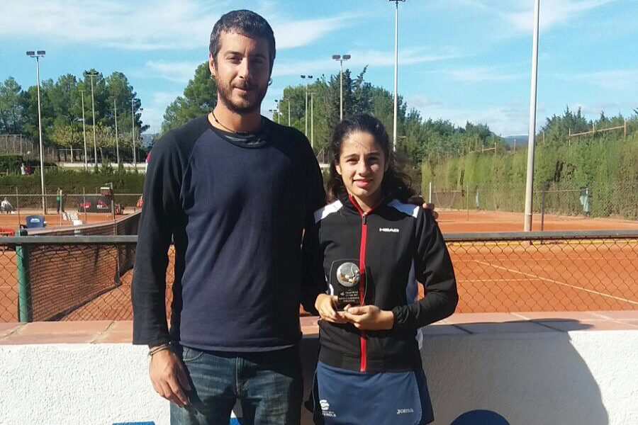 Angela Pérez i Mario Ruz, sots-campions al Head disputat al Club Tennis Valls