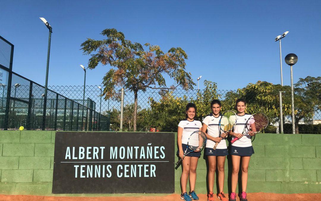 L'Infantil Femení del Monterols empata contra el Johnny Montañés en la Lliga Catalana de tennis