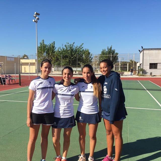 Estrena amb victòria del Júnior Femení en el Campionat de Catalunya de tennis