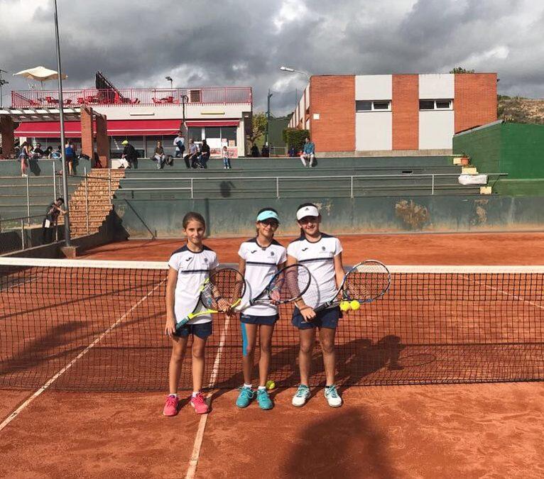 Victòria de l'Aleví Femení contra el Nàstic en la Lliga Catalana de tennis