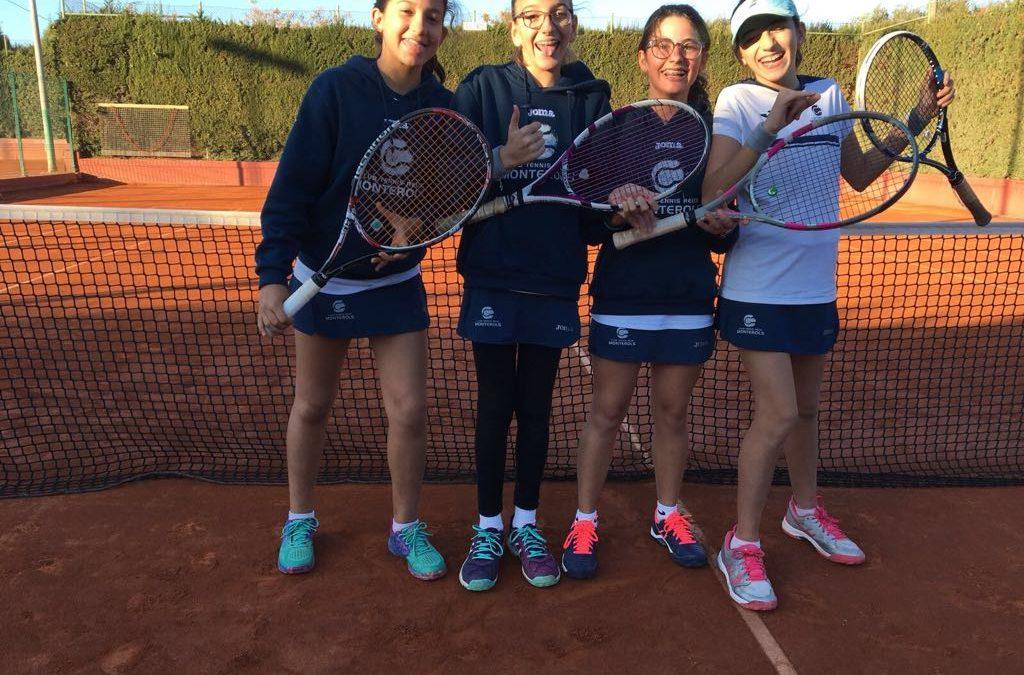 Còmode victòria de l'Infantil Femení B  contra el Tennis Park en la Lliga Catalana de tennis