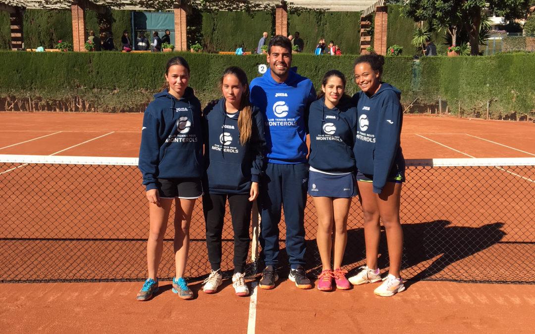 El Júnior Femení ja es troba a les semifinals del Campionat de Catalunya de tennis per equips
