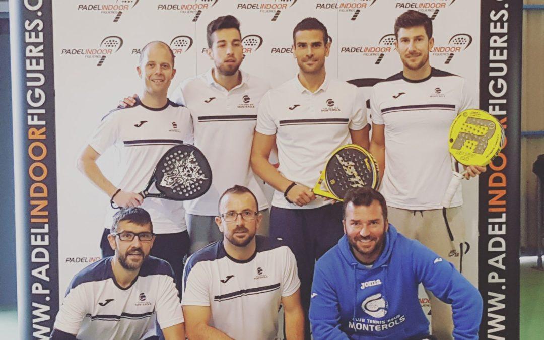 A l'equip Absolut Masculí de Pàdel del Monterols se li escapa el pase a semifinals de la Copa Catalunya 2017