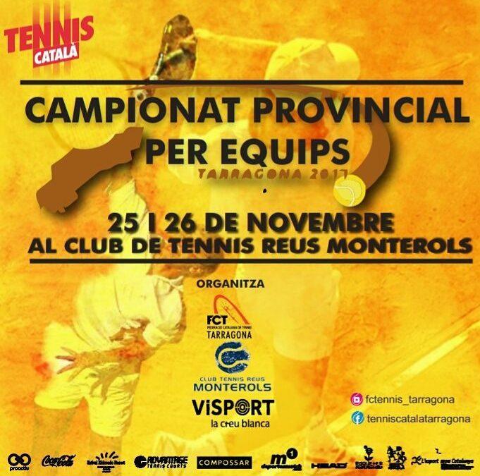 El Campionat Provincial de tennis per equips es cel·lebra aquest cap de setmana al Monterols