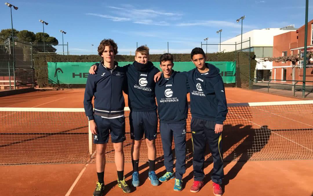 Victòria del Júnior Masculí B en la Lliga Catalana de tennis contra el CT Sant Salvador