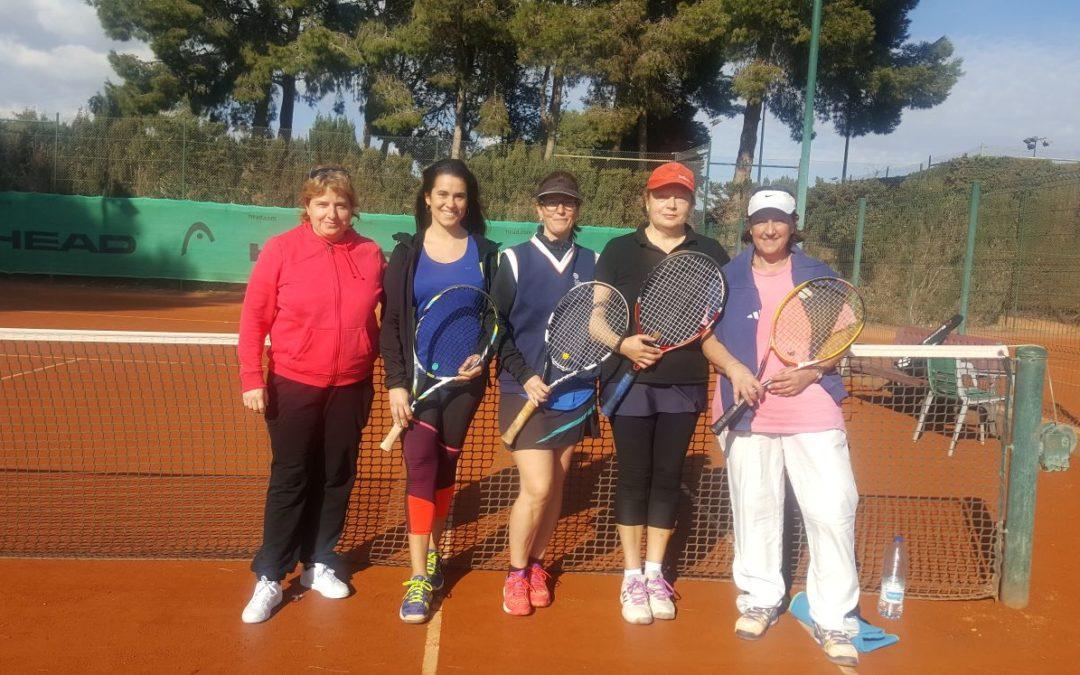 Victòria de l'equip +30 femení en la quarta jornada del campionat Interclubs de dobles
