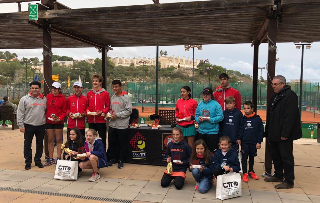 Disputades les finals del Circuit Head al Tennis Tarragona amb bons resultats pels jugadors del Monterols