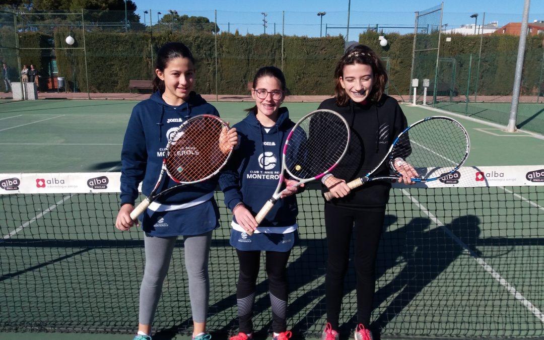 Victòria sense complicacions de l'Infantil Femení en la Lliga Catalana de tennis