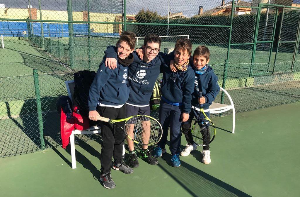 Derrota de l'Infantil Masculí contra el CT Montblanc en la Lliga Catalana de tennis