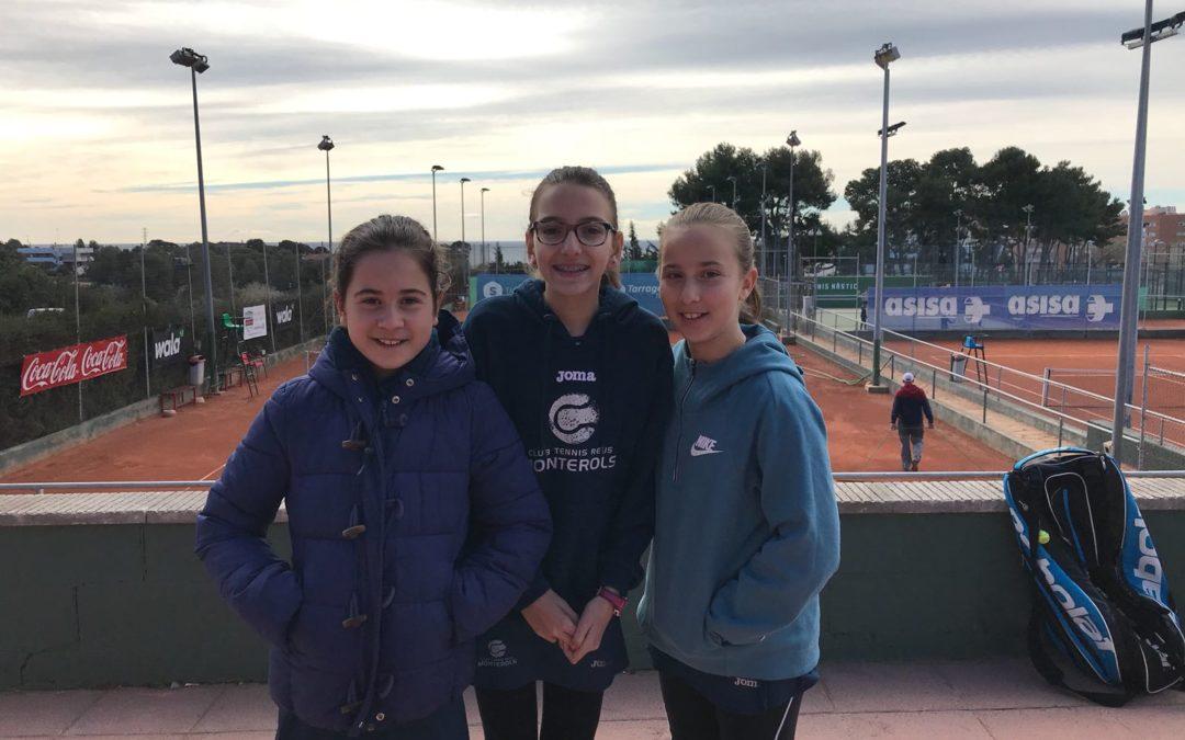 L'Aleví Femení B empata contra el Nàstic en la Lliga Catalana de tennis