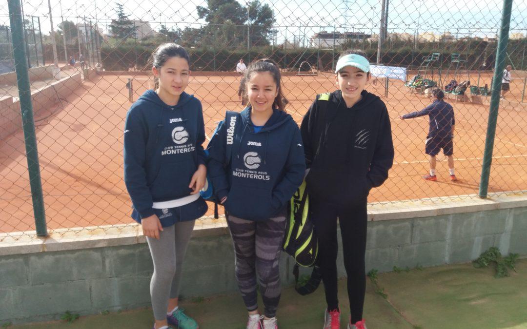 Victòria de l'Infantil Femení  contra el CT Reus Deportiu en la Lliga Catalana de tennis