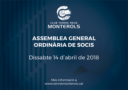 Convocatoria Assemblea General Ordinaria de Socis abril de 2018