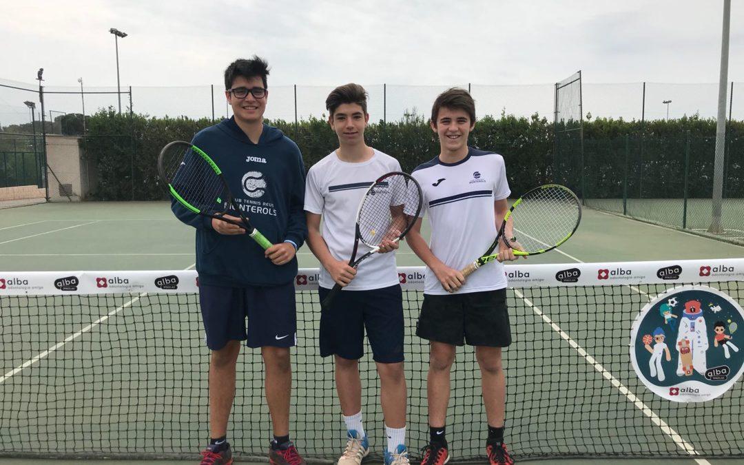 Bona victòria del Cadet Masculí B contra el CT Amposta en la Lliga Catalana de tennis