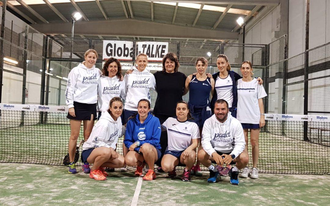 Resultats dels equips del Monterols al Campionat d'Espanya de Pàdel per Equips