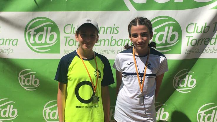 Anna Fernández, campiona de consolació infantil del Head Promeses del CT Torredembarra