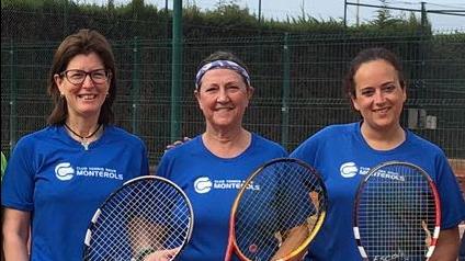 Victòria de l'equip femení +30 contra el CT Comarruga en el campionat Interclubs de tennis de dobles femení