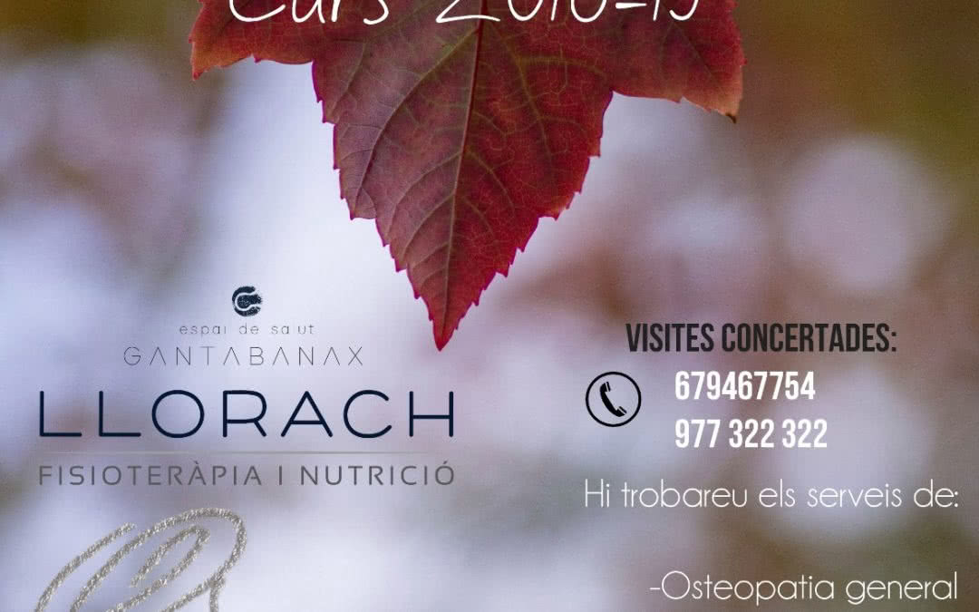 Espai de Salut Llorach. Novetats per al curs 2018-2019