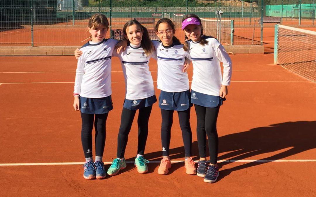 Resultats d'aquest cap de setmana dels equips benjamins en el Campionat de Catalunya de tennis per equips