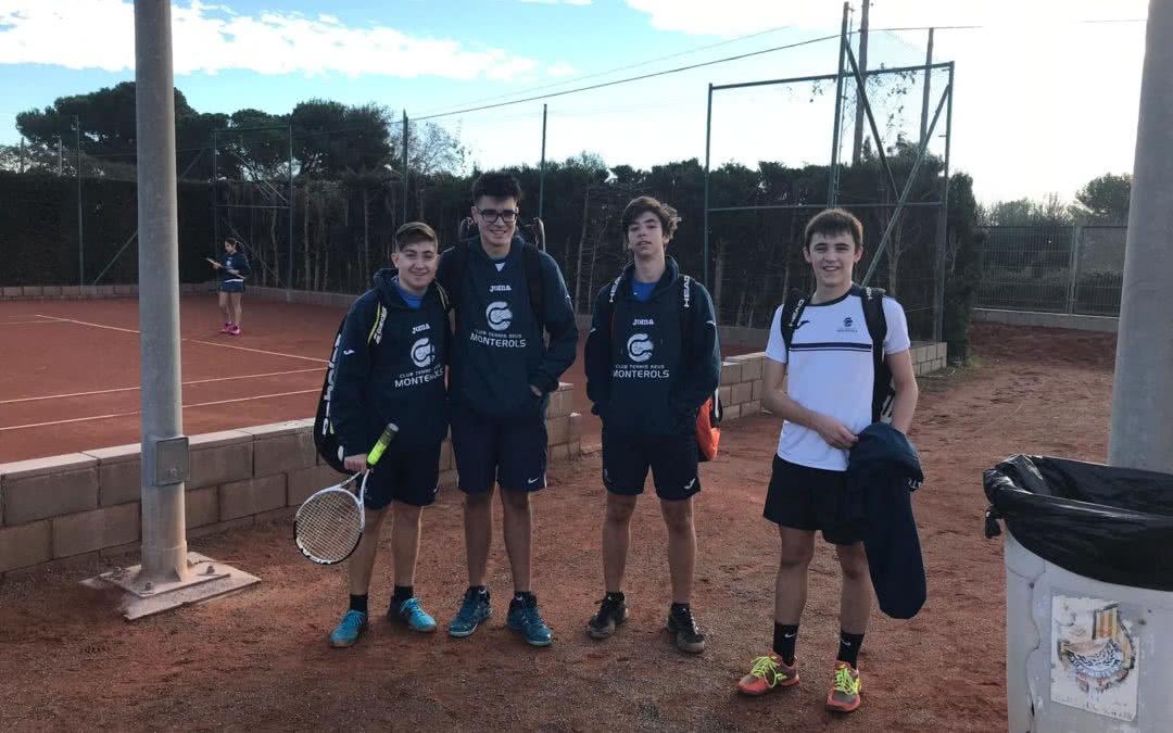 Resultats del Júnior Masculí i Cadet Femení en la Lliga Catalana de tennis