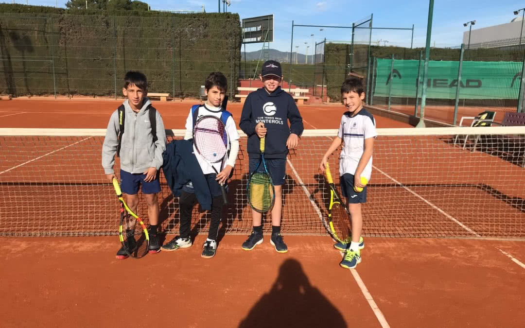 Victòria de l'Aleví Masculí contra el CT Montblanc en la Lliga Catalana de tennis
